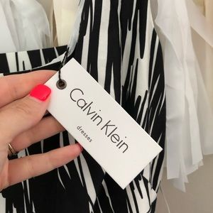 Calvin Klein Dresses - NEW Calvin Klein Black & White Fit Flare Dress